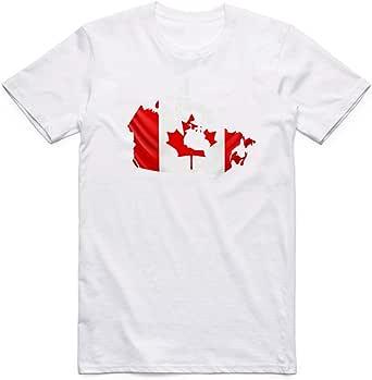 White Canada Flag T-Shirt For Men