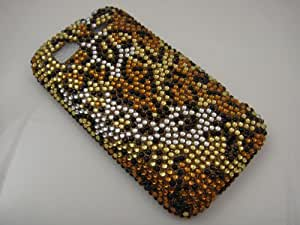 CHEETAH Hard Plastic Bling Rhinestone Cover Case for HTC Sensation 4G + Screen Protector [In Twisted Tech Retail Packaging]