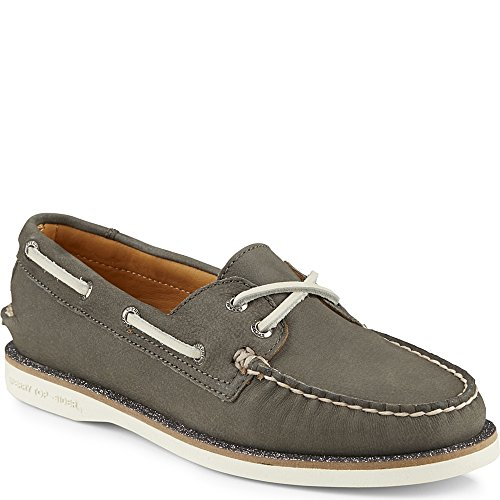 Scarpa Da Barca A Filetto In Pelle Grigia Uomo Sperry Mens Gold - 9 B (m) Us