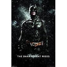 """Trends International Dark Knight Rises Batman Rain, 22.375"""" x 34"""" Wall Poster"""