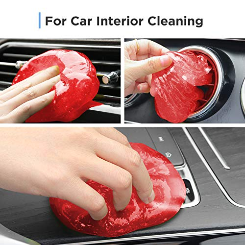 Universal Cleaning Gel for Car Vents, Keyboards,Car Interiors,Home, Electronics Remove Dust Cleaning Gel (Yellow + Red)