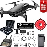 DJI Mavic Air Drone Combo 4K Wi-Fi Quadcopter with Remote Controller Deluxe Bundle with Hard Case, Dual Battery, Landing Pad and 1 Year Warranty Extension (Onyx Black)