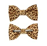 Toddler Boy 4T 5T Cheetah Print Clip On Cotton Bow Tie - Made in USA