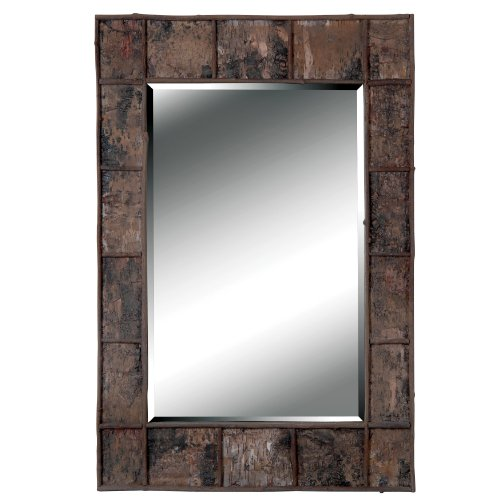 kenroy home 61002 birch bark wall mirror - Rustic Bathroom Mirrors