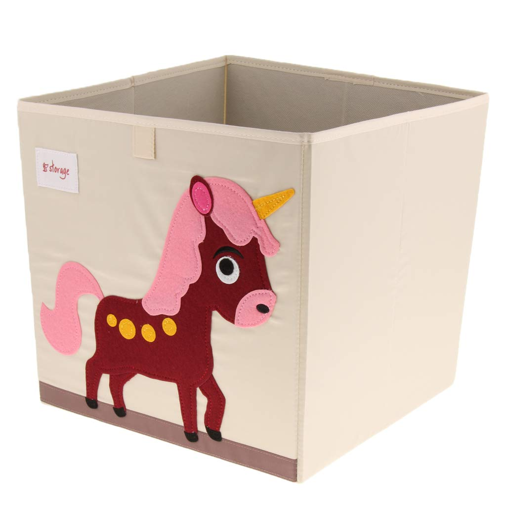 Fish Baoblaze Kid Foldable Animal Canvas Storage Cloth Toy Box//Bin//Cube//Chest//Basket//Organizer 33x33x33cm
