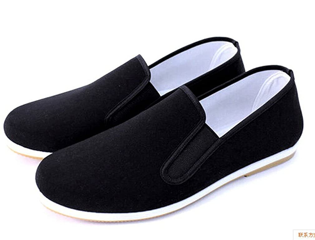 529f4eb20 Amazon.com | Men's Tai Chi Slippers, Black Shoes, Bruce Lee | Athletic
