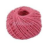 Light Pink 50m Hemp Jute Burlap Twine Sisal String Garden Household DIY Cord