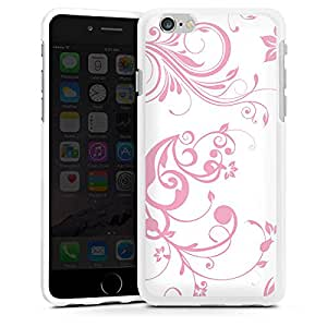 Carcasa Design Funda para Apple iPhone 6 silicona case blanco - Rosa Hauch