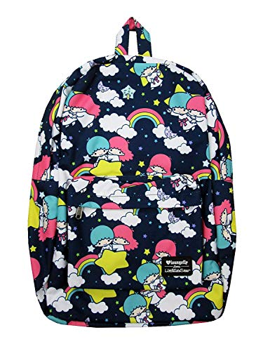 Loungefly x Sanrio Twin Stars Allover-Print Nylon Backpack (Multicolored, One Size) ()