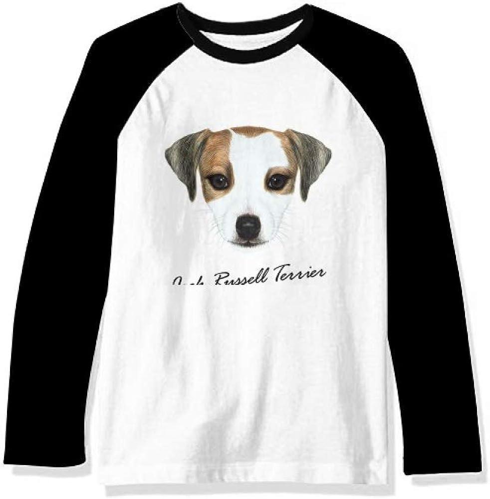 Jack Russell Terrier Dog Pet Animal Long Sleeve Top Raglan T-Shirt Cloth