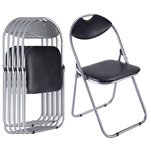 6-PCS-U-Shape-Folding-Chairs-Furniture-Home-Outdoor-Picnic-Portable-Black (Furniture Valley Outdoor Lee)