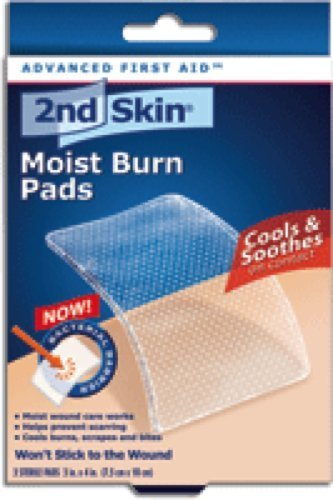 Spenco 2nd Skin Moist Burn Pad Large 3'' x 4'', Sterile, Odorless, High-water Content Sterile Hydrogel made with 95% Pure Water (Box of 3 Each)