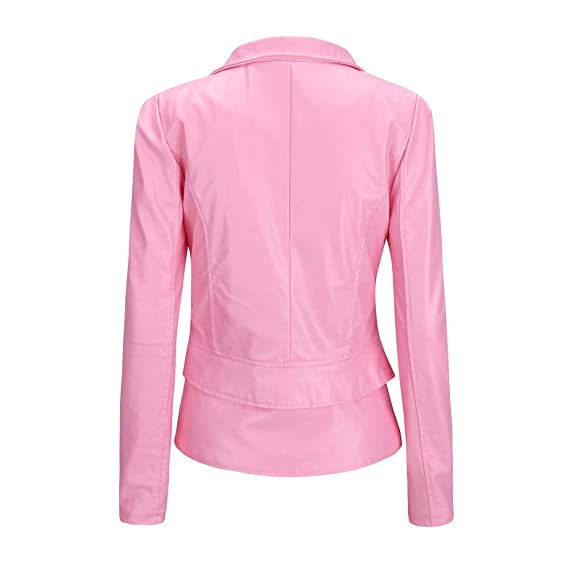 Rovinci☆ Abrigos de Mujer Damas de Invierno cálido Chaqueta de Cuero Corta Parka con Cremallera Tops Abrigo Outwear: Amazon.es: Ropa y accesorios