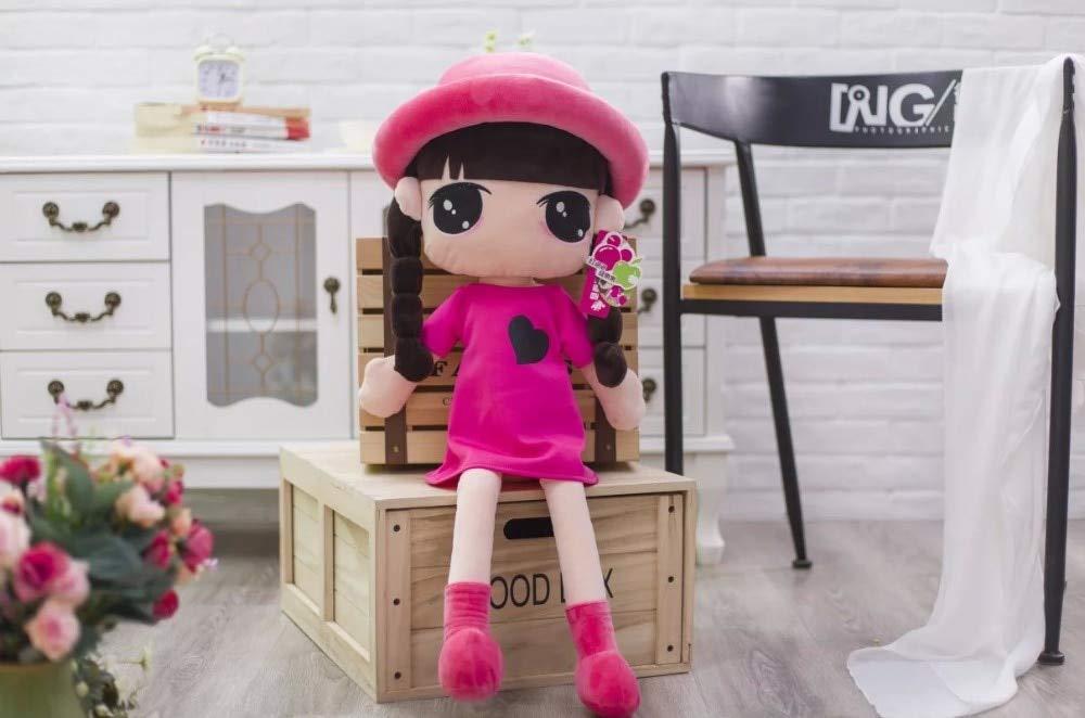 Buy Hoptar 45cm Cute Cartoon Braid Wear Hat Big Eyes Doll Plush