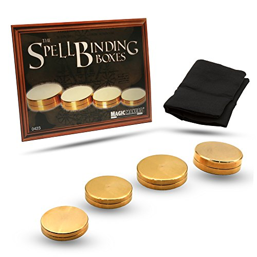 - Magic Makers Spellbinding Boxes - Professional Vanishing Cloth Included