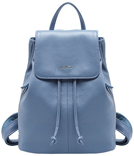 118ee4af46 Genuine Leather Mini Backpacks for Women Cute Travel Bags Small Purse for  Girls (Elegant Blue
