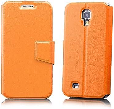 iCues Samsung Galaxy S4 Carpeta del Caso de Orange | [Protector de Pantalla, Incluyendo] Cuero: Amazon.es: Electrónica