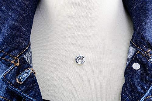 Floating Diamond Cut 10mm Crystal Clear Illusion Necklace, Genuine Diamond Cut Swarovski or Preciosa Crystal, Dainty Durable Illusion Cord, Nickel Free Silver Plated Setting, Three Sizes to - Swarovski Crystal Illusion