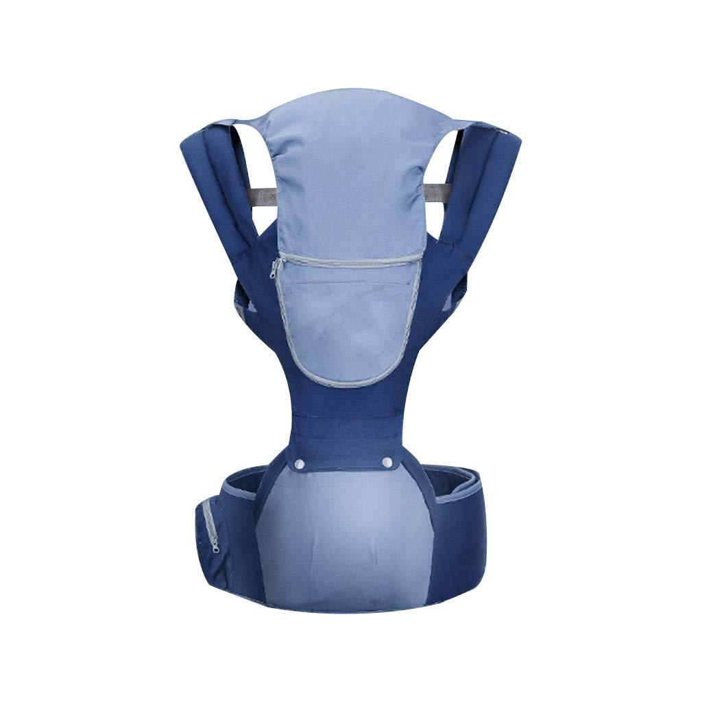 Babytrage,Stillen Visier Abgelenkte Kraft Ergonomie Geeignet Für 0-36 Monate Baby Belastbarkeit 15kg Multifunktion (Farbe : Blau)
