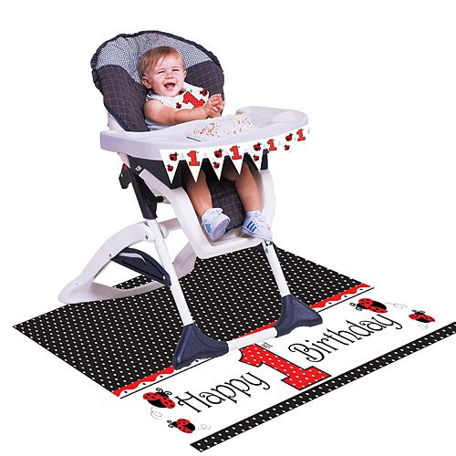 Creative Converting Ladybug Fancy First Birthday High Chair