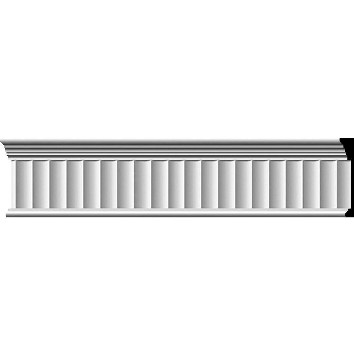 Ekena Millwork MLD07X01EL-CASE-8 7-3/4'' H x 1'' P x 96'' L Elsinor Fluted Frieze (8-Pack)