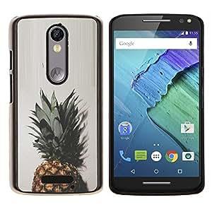 LECELL--Funda protectora / Cubierta / Piel For Motorola MOTO X3 3rd -- Top Verde Marrón Blanco simplista --