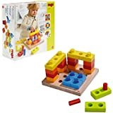 HABA  #8211; Color Fun Pegging Game  #8211; Build, Stack, and Take Apart!  #8211; Perfect STEM Gift