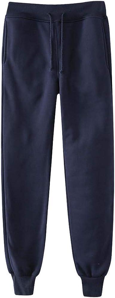 BienBien Unisex Pantalones Largos Pantalón Deportivo Casuales Pantalón de Chándal Pantalones de Jogging Cintura Elástica con Cordón Ocio Diario ...