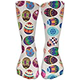 Crazy Printed Easter Egg Colorful Crew Socks Knee Tube Socks For Girls