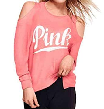 18b9b5ea5a4e9 Victoria s..Secret Pink Cold Shoulder Sweatshirt Large at Amazon ...