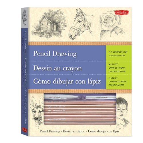Pencil Drawing-A Complete Kit for Beginners(Trilingual)