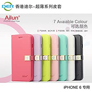 50Pcs DHL Flip Case Original Ailun Full Wallet Cover For Iphone 6 4.7 Inch PU Leather Cell Phone Case With Hand Strap Buckle i6 --- Color:Hot Pink