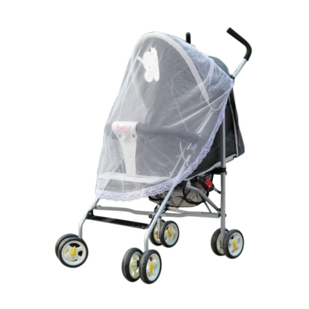 ESHOO Baby Mosquito Net for Stroller, Fit for Infant Beds, Carriers, Cradles, White Baby Insect Netting