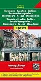 Freytag Berndt Autokarten, Slowenien - Kroatien - Serbien - Bosnien-Herzegowina - Montenegro - Mazedonien - Maßstab 1:600.000 (freytag & berndt Auto + Freizeitkarten)