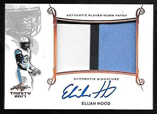 2017 Leaf Trinity Bronze Elijah Hood Jumbo 3 Color Patch Autograph TAR ()