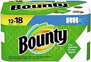 Bounty Select-A-Size Paper Towels, White, 12 Single Plus Rolls = 18 Regular Rolls