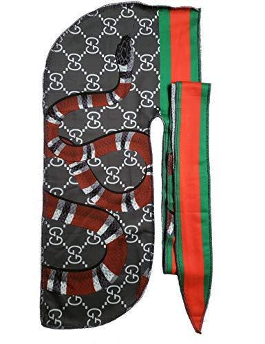 (Richagga Apparel Women & Men's Customs Designer Durag,Fashion Premium Durags Basic and Limited Edition,Exclusive Wave Cap (GG Snake) )