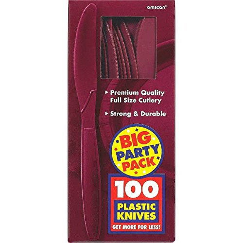 Amscan 43603.27 Big Party Pack Plastic Knives, 8.1