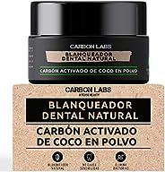 Blanqueador Dental de Carbon Activado de Coco en Polvo -100% Natural - Con Aceite Esencial de Coco, Naranja y