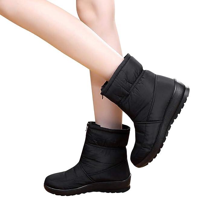 949f94fe33d18 Amazon.com: Memela Clearance Sale!! Womens Waterproof Fur Boots Zip ...