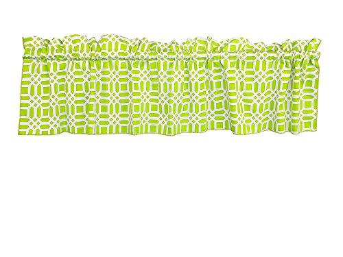 Cheap Zen Creative Designs 100% Cotton Valance Vector Pattern / Curtain Valance / Home Decor / Window Treatment / Kitchen / Baby Nursery / Mashrabiya / Arabesque / Geometric / Trellis (24 Inch, Lime)