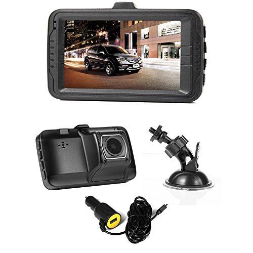 NexGadget Car Dash Camera,FHD 1080P Car Camera, Car Recorder with G-Sensor, Loop Recording, Parking Mode, Motion Detection, Car Charger with an USB Port