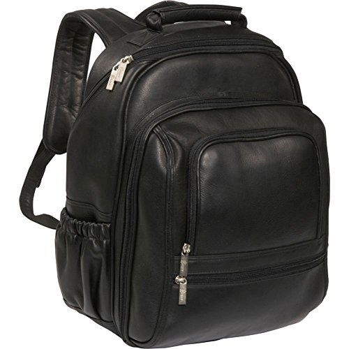 Expandable Leather Computer Backpack - 4