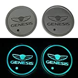 monochef Auto Sport 2PCS LED Cup Holder Mat Pad Coaster with USB Rechargeable Interior Decoration Light Fit Genesis Accessory: more info