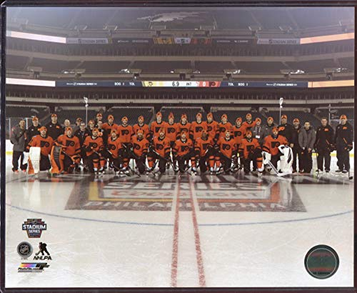 - 2019 Stadium Series Officially Licensed Philadelphia Flyers Team 8x10 Photo with Toploader