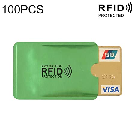 JHMJHM Wallet Card Bag 100 PCS Bloqueo de RFID de Papel de ...