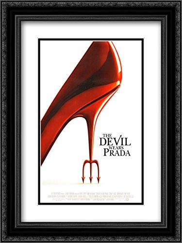 (The Devil Wears Prada 20x24 Double Matted Black Ornate Framed Movie Poster Art Print)