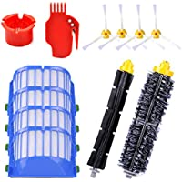 KEEPOW Replacement Parts for iRobot Roomba 600 Series 595 614 620 630 650 652 660 680 690 Robotic Vacuum Cleaner (4 Side Brushes,4 Hepa Filters,1 Flexible Beater Brush,1 Bristle Brush,2 Cleaning Tool)