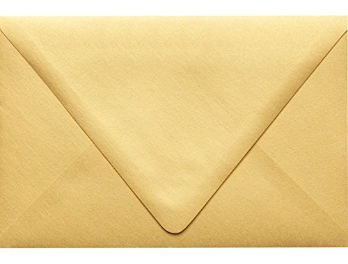 6 x 9 Booklet Contour Flap Envelopes - Gold Metallic (50 Qty) | Perfect for mailing Documents, Catalogs, Direct Mail, Promotional Material, Brochures and More| 1820-07-50 Envelopes.com