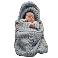 XMWEALTHY Newborn Baby Wrap Swaddle Blanket Knit Sleeping Bag Sleep Sack Stro...